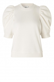 Second Female |  Sweater with puff sleeves Miami | white  | Picture 1