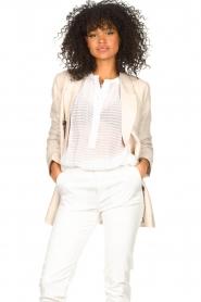 Second Female |  Linen blazer Lia | beige  | Picture 5