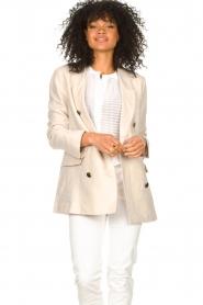 Second Female |  Linen blazer Lia | beige  | Picture 6