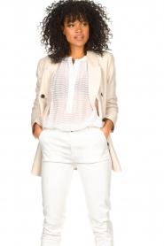 Second Female |  Linen blazer Lia | beige  | Picture 4