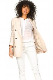 Second Female |  Linen blazer Lia | beige  | Picture 2