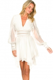 Magali Pascal |  Dress with ruffles and lace Eve | white  | Picture 5