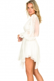 Magali Pascal |  Dress with ruffles and lace Eve | white  | Picture 6