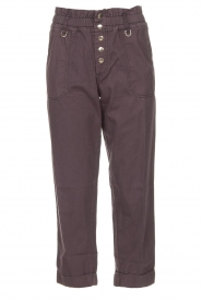 Magali Pascal |  Paperbag ankle pants Jackson | dark purple  | Picture 1
