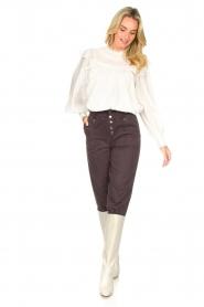 Magali Pascal |  Paperbag ankle pants Jackson | dark purple  | Picture 2