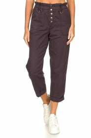 Magali Pascal |  Paperbag ankle pants Jackson | dark purple  | Picture 5