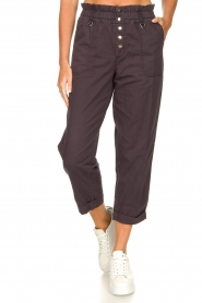 Magali Pascal |  Paperbag ankle pants Jackson | dark purple  | Picture 4