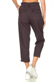 Magali Pascal |  Paperbag ankle pants Jackson | dark purple  | Picture 7