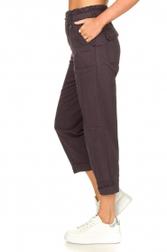 Magali Pascal |  Paperbag ankle pants Jackson | dark purple  | Picture 6