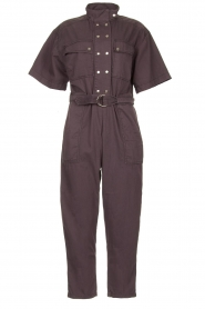 Magali Pascal |  Jumpsuit with buckle detail Dylan | black  | Picture 1