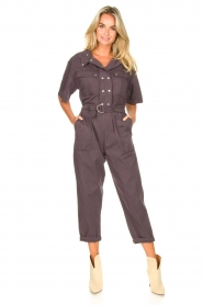 Magali Pascal :  Jumpsuit with buckle detail Dylan | black - img3
