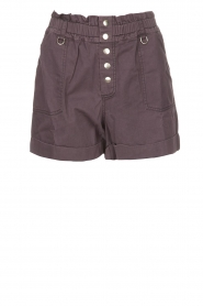 Magali Pascal |  Paperbag shorts Jackson | dark purple   | Picture 1