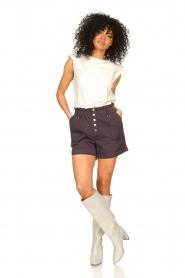 Magali Pascal |  Paperbag shorts Jackson | dark purple   | Picture 3