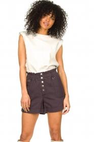 Magali Pascal |  Paperbag shorts Jackson | dark purple   | Picture 2