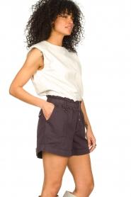Magali Pascal |  Paperbag shorts Jackson | dark purple   | Picture 4