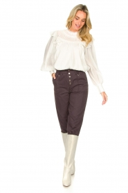 Magali Pascal |  Romantic top with baloon sleeves Giselle | white  | Picture 3