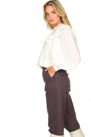 Magali Pascal |  Romantic top with baloon sleeves Giselle | white  | Picture 6
