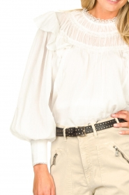 Magali Pascal |  Romantic top with balloon sleeves Giselle | white  | Picture 8