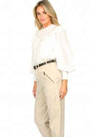 Magali Pascal |  Romantic top with balloon sleeves Giselle | white  | Picture 6