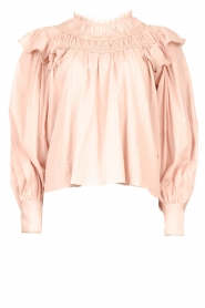 Magali Pascal |  Romantic top with balloon sleeves Giselle | nude  | Picture 1