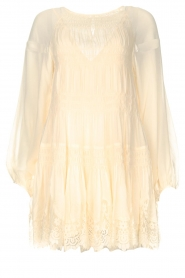 Magali Pascal |  Smocked dress with lace Dalia | natural  | Picture 1