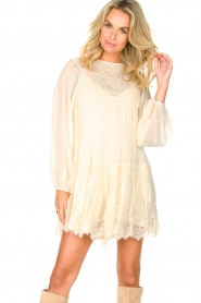 Magali Pascal |  Smocked dress with lace Dalia | natural  | Picture 2