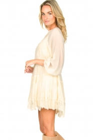 Magali Pascal |  Smocked dress with lace Dalia | natural  | Picture 5