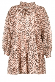 Magali Pascal | Shirt dress met print Glory | roze   | Afbeelding 1