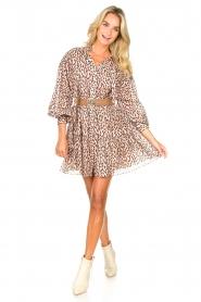 Magali Pascal | Shirt dress met print Glory | roze   | Afbeelding 3