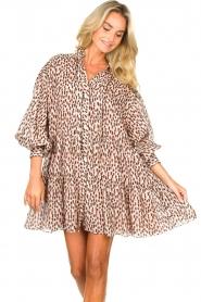 Magali Pascal | Shirt dress met print Glory | roze   | Afbeelding 4