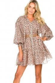 Magali Pascal | Shirt dress met print Glory | roze   | Afbeelding 2