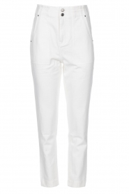 Magali Pascal |  Paperbag jeans Sisley | white  | Picture 1