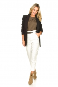 Magali Pascal |  Paperbag jeans Sisley | white  | Picture 2