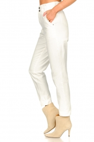 Magali Pascal |  Paperbag jeans Sisley | white  | Picture 6