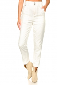 Magali Pascal |  Paperbag jeans Sisley | white  | Picture 5