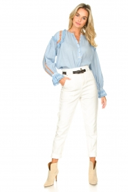 Magali Pascal |  Paperbag jeans Sisley | white  | Picture 3