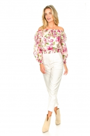Magali Pascal |  Paperbag jeans Sisley | white  | Picture 4