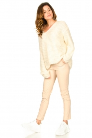 Set |  Chunky knitted sweater Saar | natural  | Picture 3