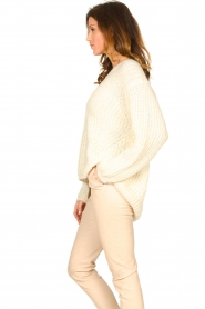 Set |  Chunky knitted sweater Saar | natural  | Picture 5