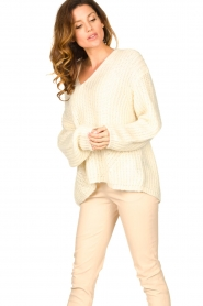Set |  Chunky knitted sweater Saar | natural  | Picture 4