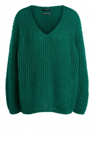 Set |  Chunky knitted sweater Saar | green  | Picture 1