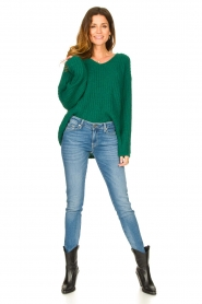 Set |  Chunky knitted sweater Saar | green  | Picture 3