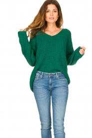 Set |  Chunky knitted sweater Saar | green  | Picture 2