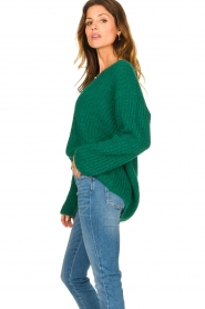Set |  Chunky knitted sweater Saar | green  | Picture 6