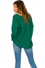 Set |  Chunky knitted sweater Saar | green  | Picture 7