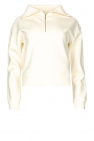 Lune Active |  Sweater with zip collar River | natural  | Picture 1