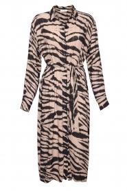 Les Favorites |  Midi dress with zebra print Kiki | black  | Picture 1