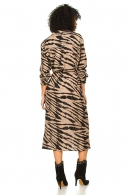 Les Favorites |  Midi dress with zebra print Kiki | black  | Picture 5