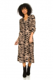 Les Favorites |  Midi dress with zebra print Kiki | black  | Picture 3
