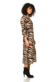 Les Favorites |  Midi dress with zebra print Kiki | black  | Picture 4